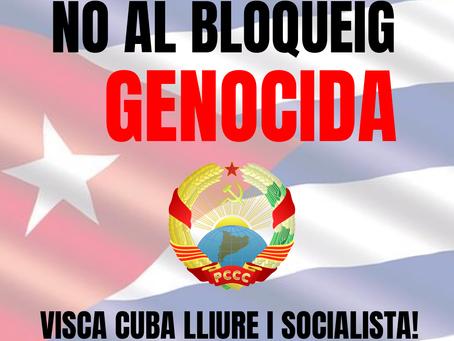 No al Bloqueig a Cuba