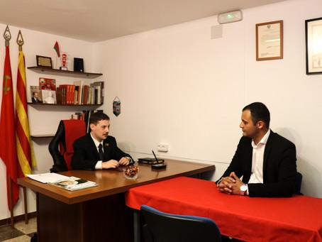 Visita del  President de l'Associació armènia Ararat  a Catalunya