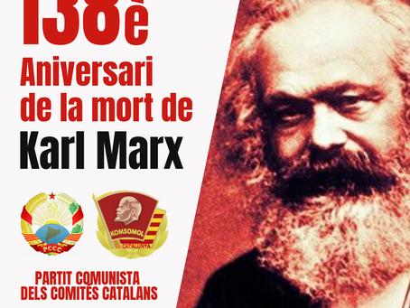 138è aniversari de la mort de Karl Marx