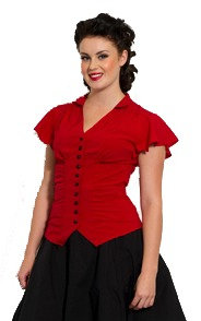Red Button Blouse