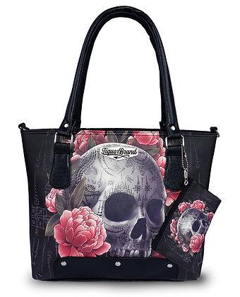 Floral Skull Purse