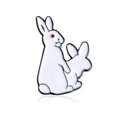 Busy Rabbit Pin