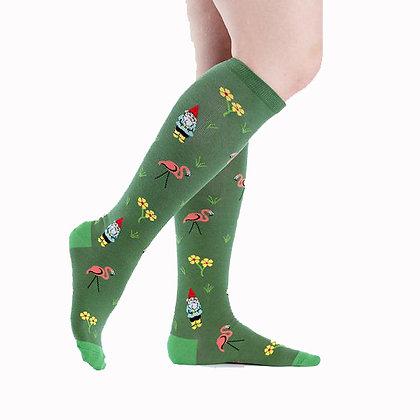 Flamingo & Gnomes Socks