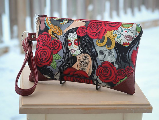Sugar Skull Lady Clutch