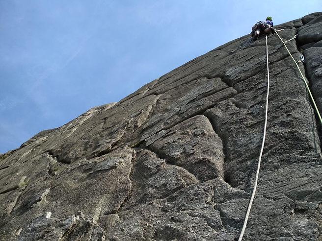 Lead climb - rock climb- Mourne Mountain