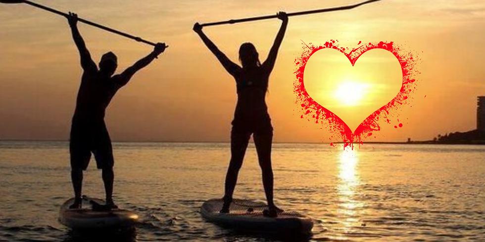 Valentine's Sunset Couples SUP