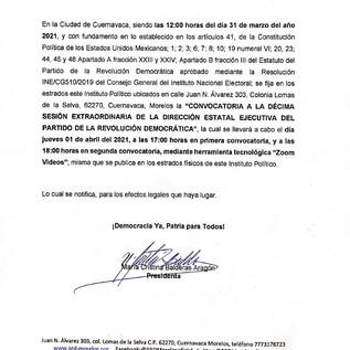 CÉDULA DE NOTIFICACIÓN 31-03-2021.
