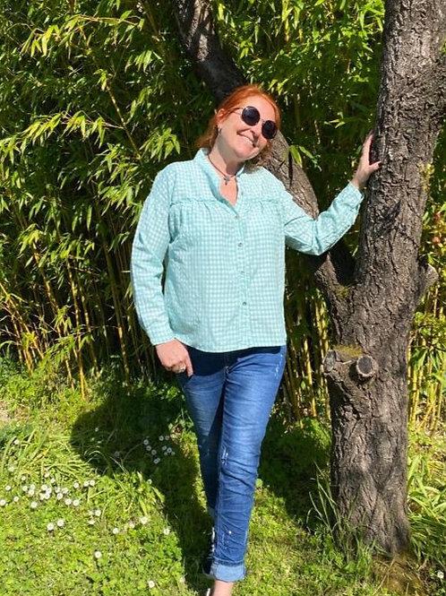 blouse vichy verte