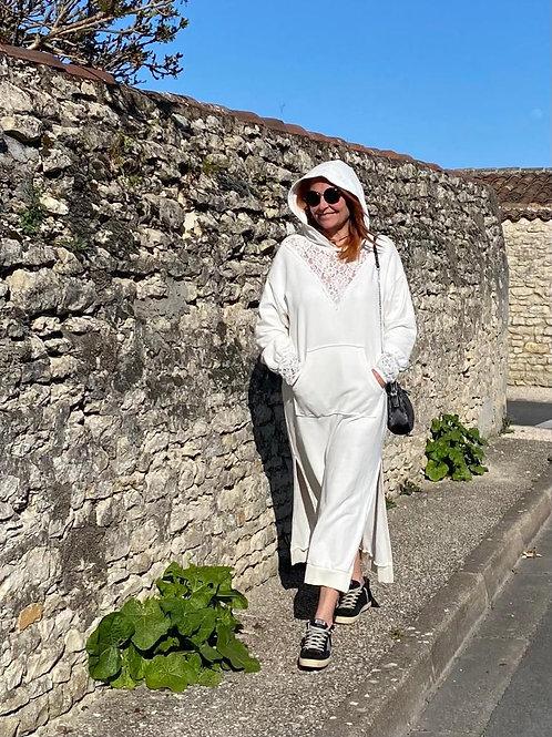 robe sweat blanche Chantal B