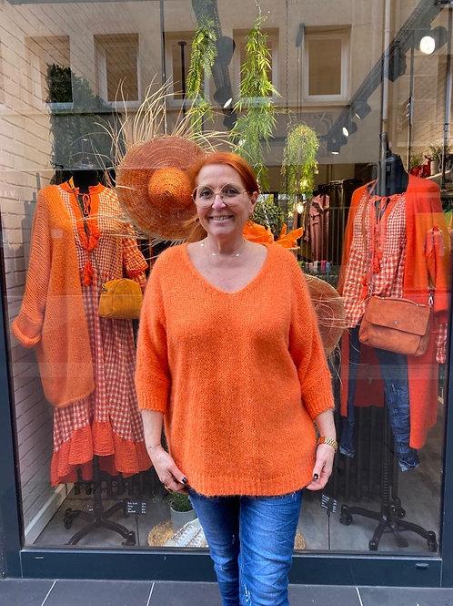 Big pull mohair orange