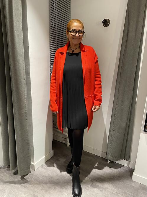 Gilet manteau rouge