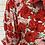 Thumbnail: Robe longue croisée imp fleurs rouge