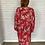 Thumbnail: Robe fleurs japon rouge
