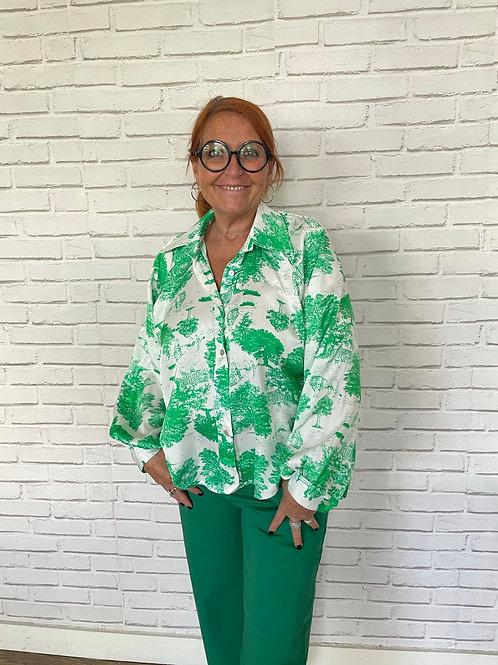 blouse jungle verte