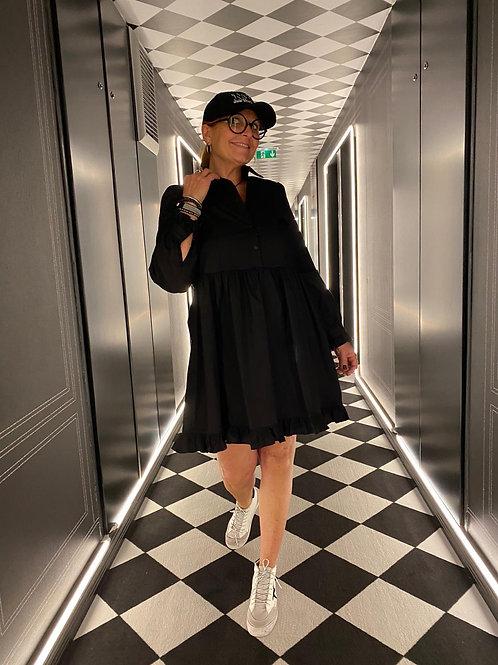 Robe popeline noire