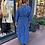 robe longue satinée bleue royal