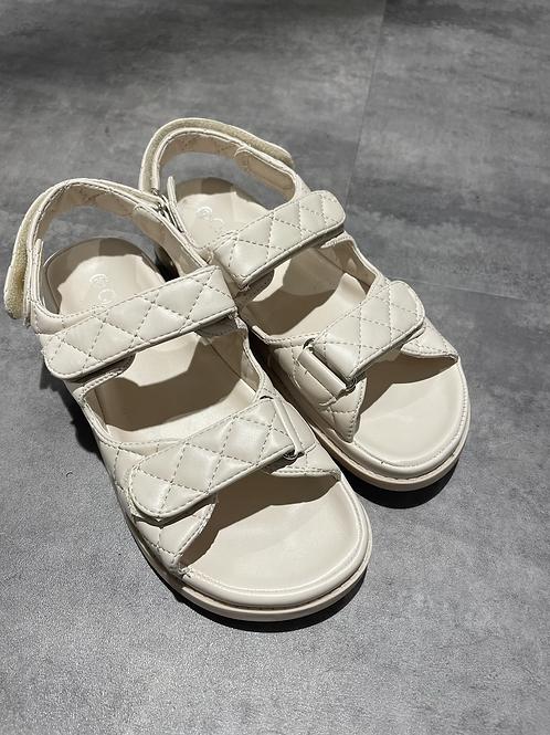 Dad sandales noir écru