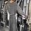 robe longue plissée croisée