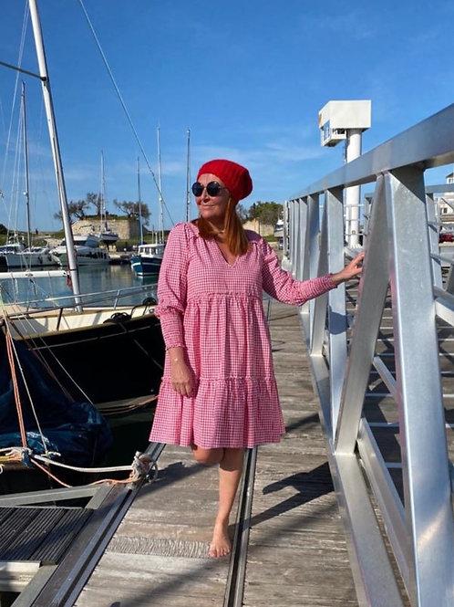 robe vichy rouge