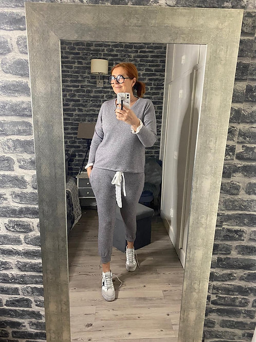ensemble jogging gris en coton