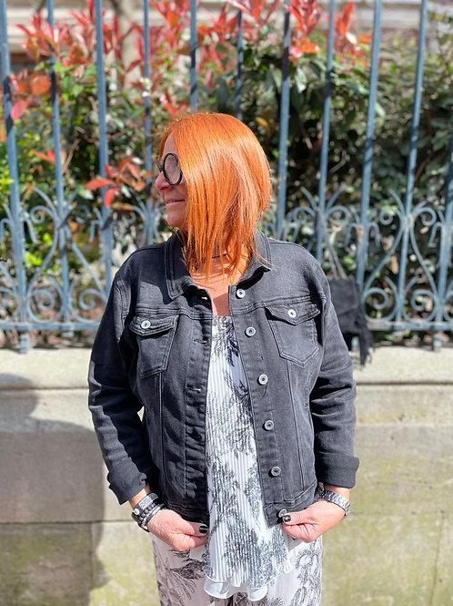 Veste jean noire
