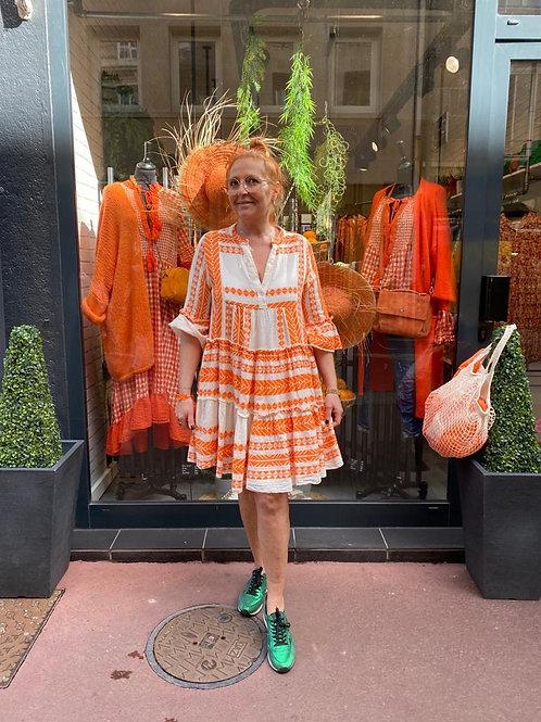 robe aztèque orange