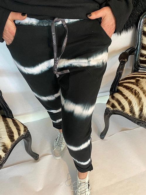 pantalon jogging tie and dye noir