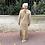Thumbnail: Robe volantée beige