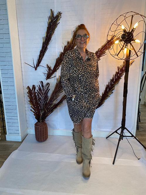 combishort léopard