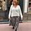 jupe plissée motif zèbre