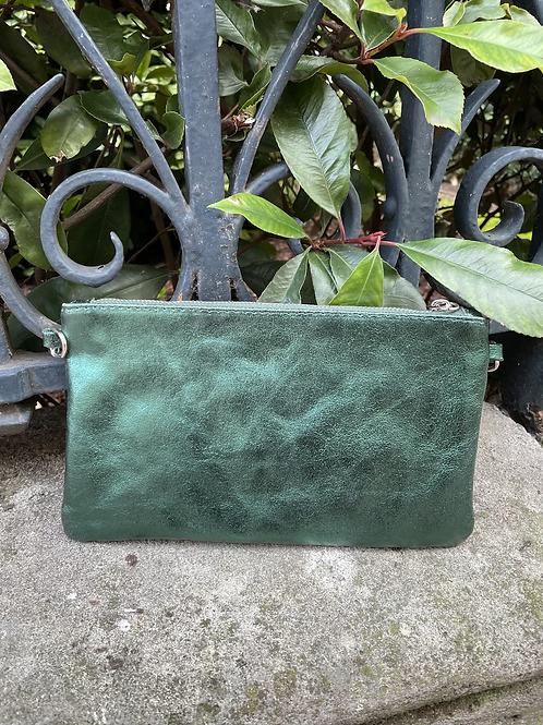 pochette irisée verte