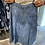 jupe en jean à franges