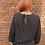 blouse à pois noire