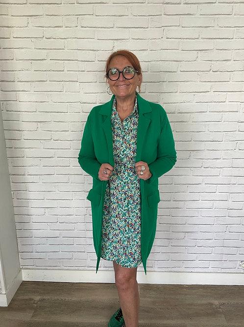 gilet manteau vert