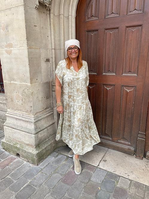 robe longue camou beige