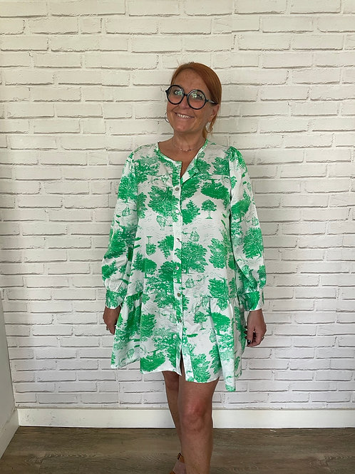 robe jungle verte