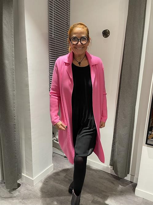 Gilet manteau rose