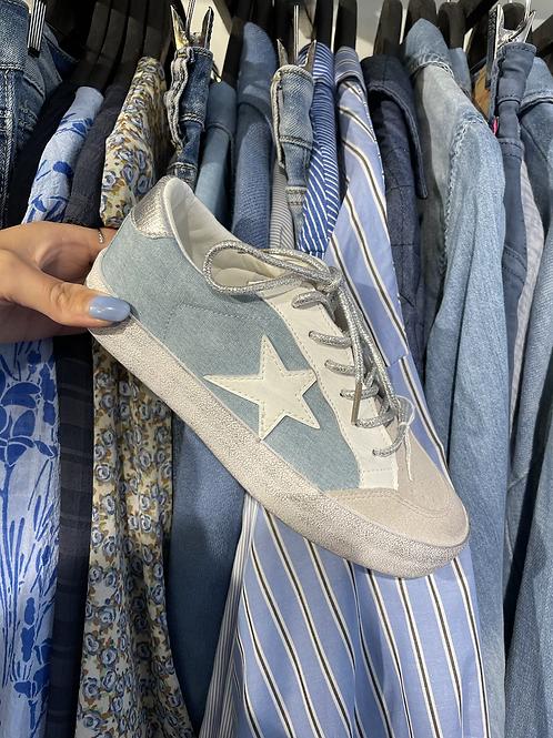 basket étoile bleu jean