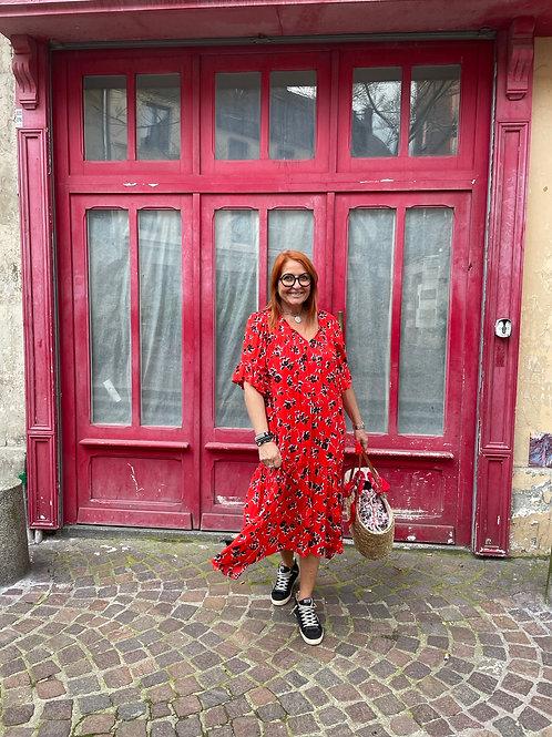 Robe Rina noire et rouge