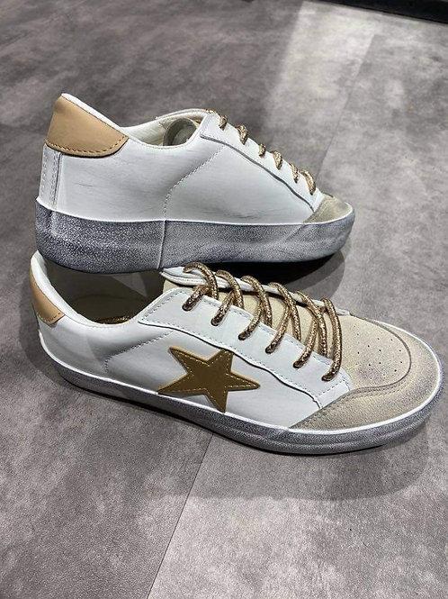 basket étoile beige