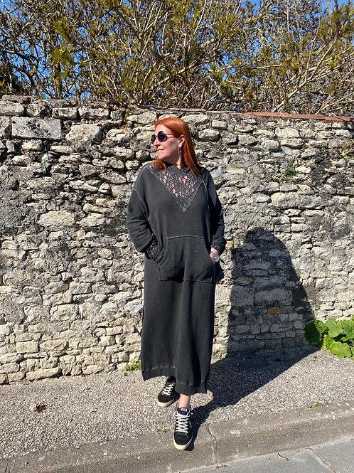 robe sweat noire Chantal b