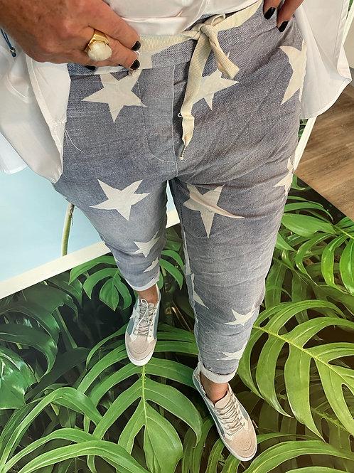 Pantalon étoile ciel