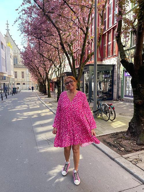 robe fleurettes rose
