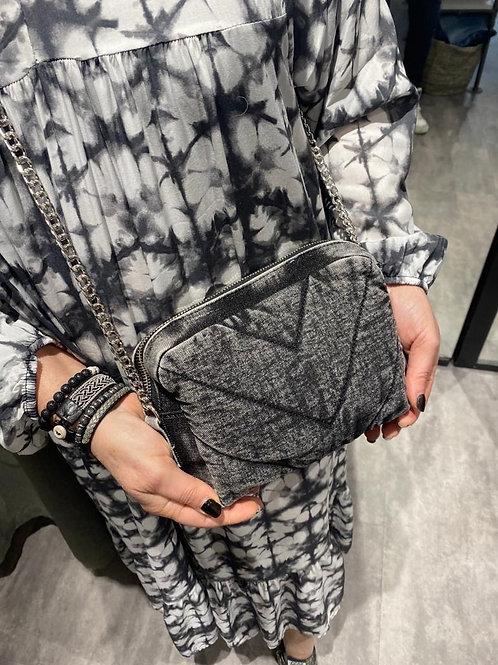 sac moyen en jean gris