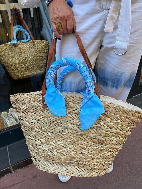 Panier bandana bleu