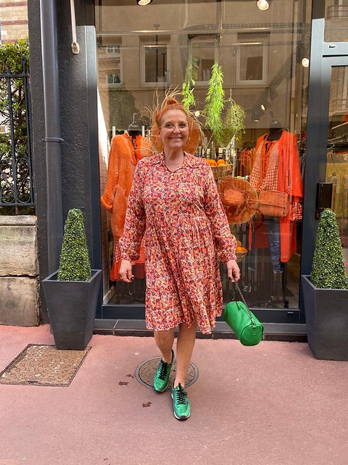 robe à fleurs orange