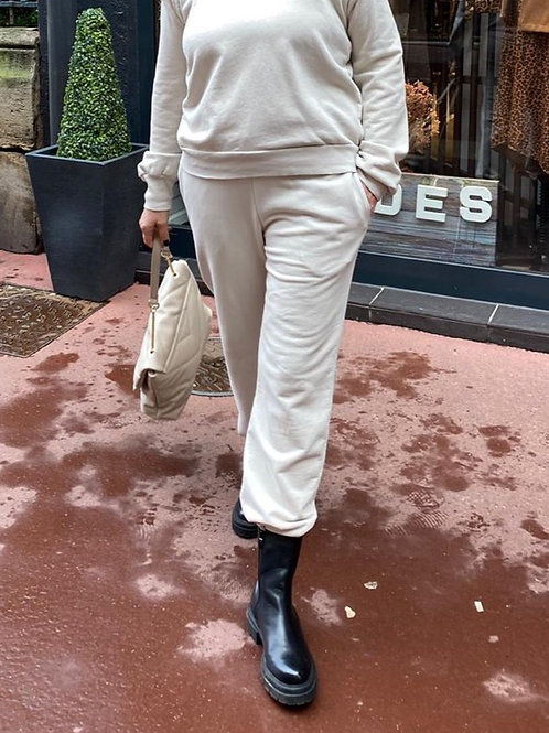 pantalon jogging beige