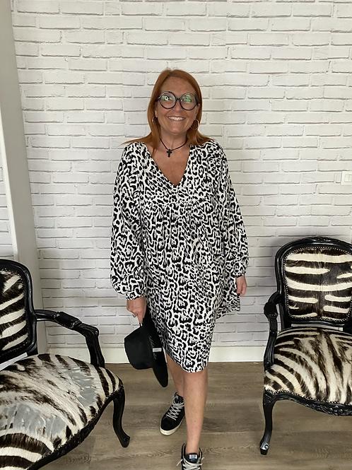 robe courte léopard