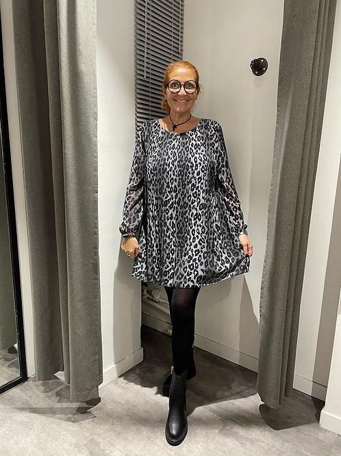 Robe plissée léo grise