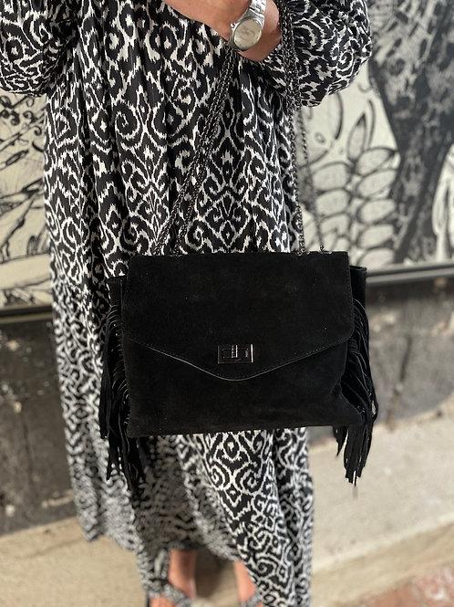 sac franges noir